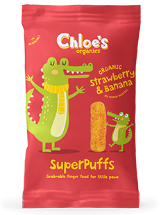 Strawberry & Banana SuperPuffs pack image