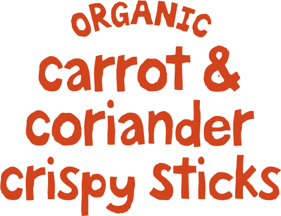 Organic Carrot and Corriander Crispy Sticks