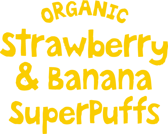 Organic strawberry & Banana SuperPuffs